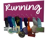 Running medals display rack - Simple RUNNING graphic