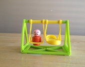 Vintage Fisher Price Swing Set Little People School