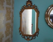 Shop closing sale vintage mirror gold scroll design