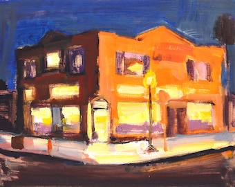 San Diego Night Painting- Golden Hill