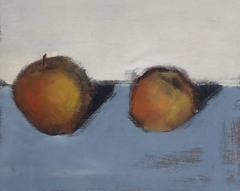 Apples Painting- Kitchen Art Still Life With Fruit