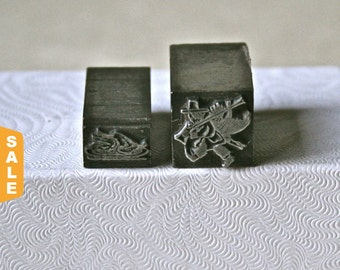 August is Letterpress Month - 20% off Letterpress Dingbats or Ornaments Thanksgiving Themed for Printing Stamping and Decor