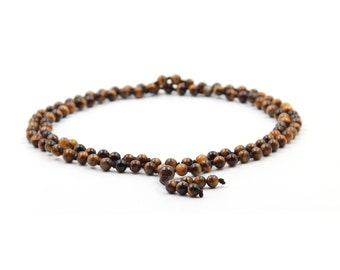 Tibetan 108 Tiger Eye Gem Knot Rosary Beaded Prayer Beads Mala  ZZ413