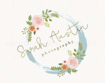 photography logo rose logo design flower logo premade logo watercolor logo florist logo event planner logo watercolour logo wedding logo