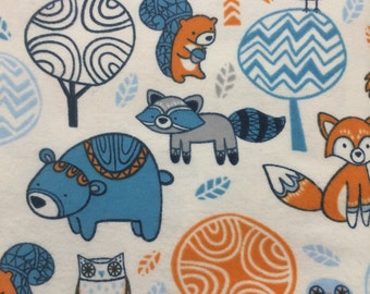 Foxy Forest Friends - FLANNEL - BTY