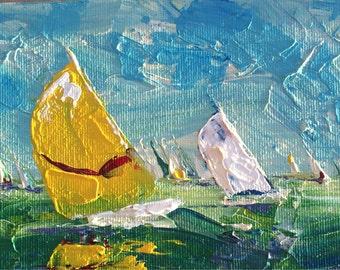 Original sailboat painting