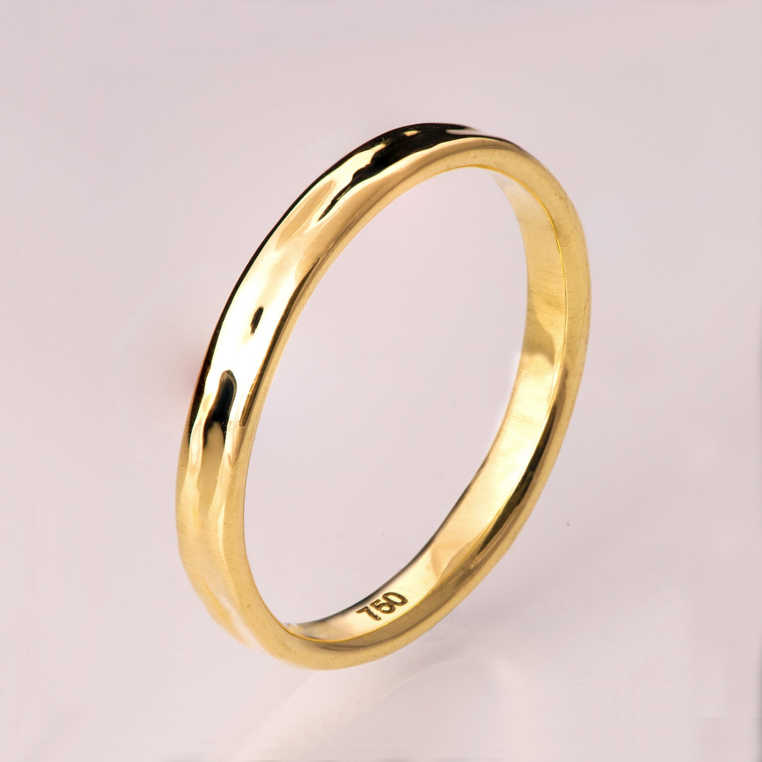 simple gold wedding band 14k gold ring unisex ring