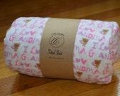 Flannel Fitted Crib Sheet -  I Love Grandma - SALE
