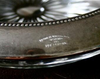 Large Vintage Frank M Whiting 06 Heavy Sterling Rim Wine Bottle Coaster