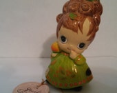 Josef Original Big Eyed November Figurine w/all Labels