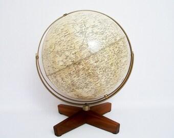 RARE Lunar/Moon Globe Weber Costello 1969 FREE SHIPPING Lower 48