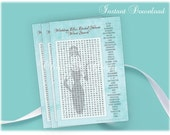 DIY Printable Breakfast At Tiffany's Bridal Shower Word Search Game-Instant Download - Printable