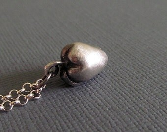 Sterling silver apple charm, Pendant Charms, Oxidized Silver Necklace, Teacher Pendants, Teacher Gifts, unique gifts for women