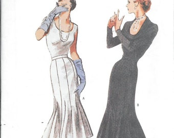 Butterick 6699 Retro '51 Misses Fishtail Gown SKIRT Vintage 1950s Sewing Pattern UNCUT Size 12, 14 and 16