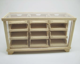 Miniature dollhouse unfinished counter for shop  - code. VMJ1514