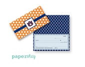 Checkbook Cover, Monogrammed Checkbook Cover, Auburn, Checkbook Cover, Custom Checkbook Cover, Vinyl Checkbook Cover AUBURN
