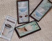 Happy In a Cup - Handmade Retro Coffee Mug Magnets
