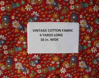 Four Yards Vintage Cotton Fabric