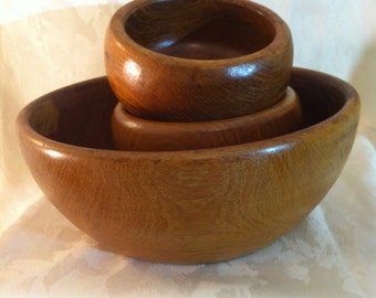 Vintage TEAK WOOD Bowls/Thailand
