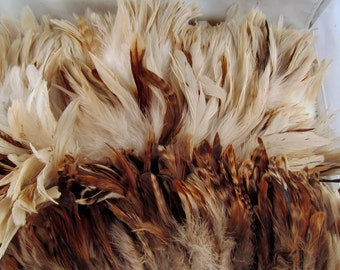 100 Feathers assorted Natural Mix 4 to 6 inches craft feathers k171