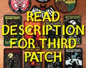3 PATCH PACK: Cryptozoology Tracking Society - PLEASE Read Description for 3rd choice directions