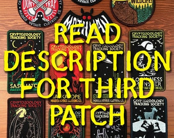 3 PATCH PACK: Cryptozoology Tracking Society