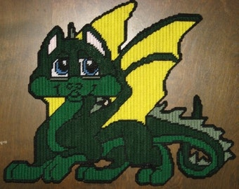 Baby Dragon Plastic Canvas Pattern