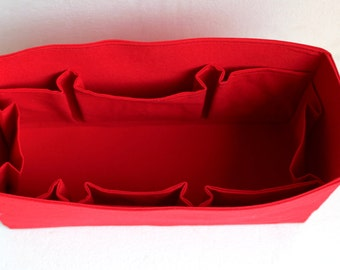 Purse organizer insert  in Rich Red fabric