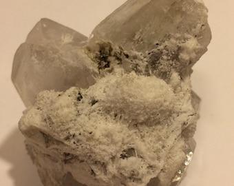 Apophyllite with Rare Mordenite Crystal Cluster Mineral Specimen