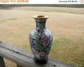 Antique Chinese Cloisonne Vase Christmas Gift Green Blue Purple Vase Home Decor Home Improvement Small Vase