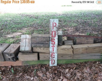 Antique Posted Sign Metal Red Stencil Letters Dairy Farm
