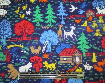 Quilted Fabric Pigs Dogs Sheep Rabbits.  Farm Animal Quilted Fabric