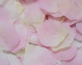 Rose Petals Weddings Artificial Soft Pink Light Yellow 300 Pieces Flower Girl / Table Decor / Embellishments