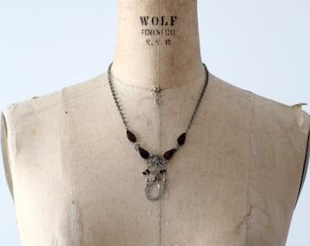 vintage 70s filigree necklace