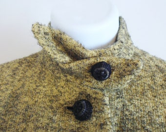 1960S Nubby wool jacket by Buddy Blake, in Chartreuse and Black