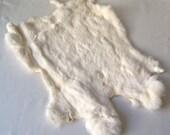 Rabbit Pelt White Rabbit Fur Hide Leather Crafts Pelts Furs