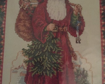 """Needle Treasures """"A Victorian Santa Claus"""" Counted Cross Stitch Kit"""
