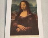 "1937 Art Print ""Mona Lisa"" by Leonardo da Vinci"