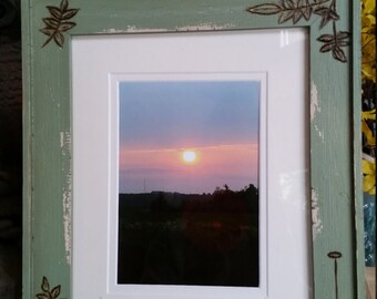 Sunrise over a potato field, aroostook county Maine