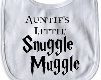 Auntie's Little Snuggle Muggle Harry Potter Baby Bib