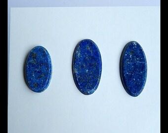 SALE,3 PCS Lapis Lazuli Gemstone Cabochons,20x11x2mm,22x11x2mm,3.35g