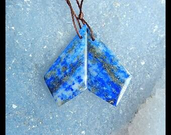 SALE,Lapis Lazuli Gemstone Earring,30x15x4mm,4.89g