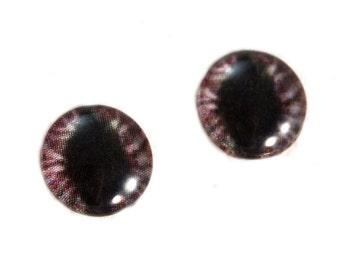 10mm Eyes, Red Cat Eyes, Dragon Glass Eyes, Eye Cabochons, Evil Eyes, Art Doll Eyes, Jewelry Making, Small Eyes, Fantasy Eyes, Taxidermy