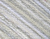 Extra large rag rug , white and off white, 9' X 15' size
