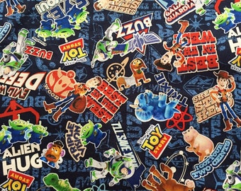 Toy story  fabric blue colour fabric half  yard