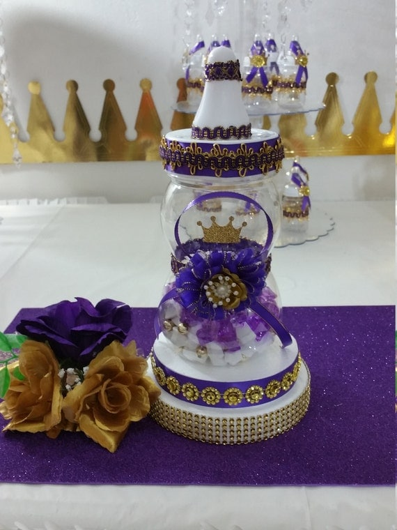 shower centerpiece for royal purple baby shower royal purple gold