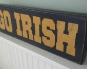 Go Irish Freestanding Wood Block in Distressed Finish