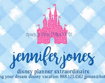 Disney Travel Agent Planner Business Cards with Castle, Mickey or Minnie