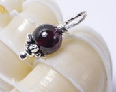 Garnet  Beads 6 mm Wire Wrapped Head Pin Silver wire