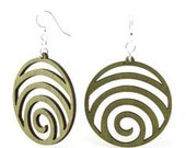 Wave Circles - Laser Cut Wood Earrings - Eco Friendly